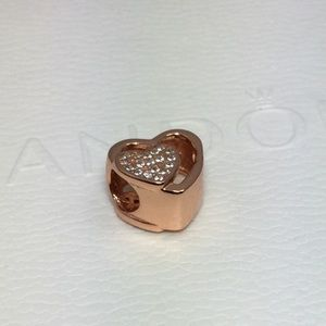 Pandora rose gold heart charm